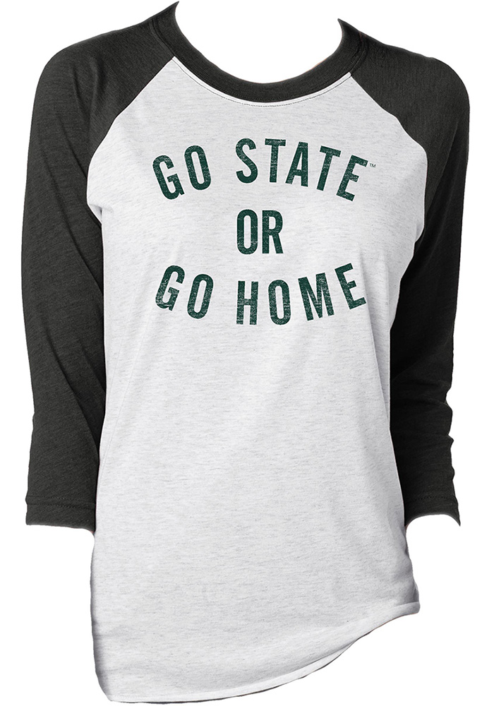 Michigan State Spartans Womens White Go State LS Tee - Image 1