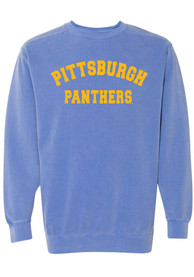 Pitt Panthers Womens Simple Crew Sweatshirt - Blue