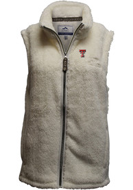 Texas Tech Red Raiders Womens Double Plush Vest - White