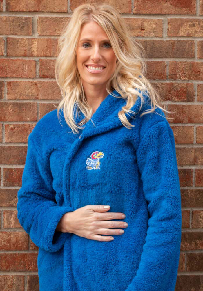 Rah Rah KU Jayhawks Womens Royal Double Plush No Zip Jacket - Image 1