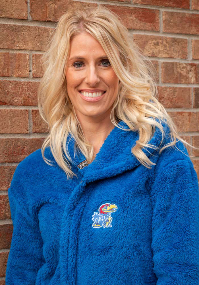Rah Rah KU Jayhawks Womens Royal Double Plush No Zip Jacket - Image 2