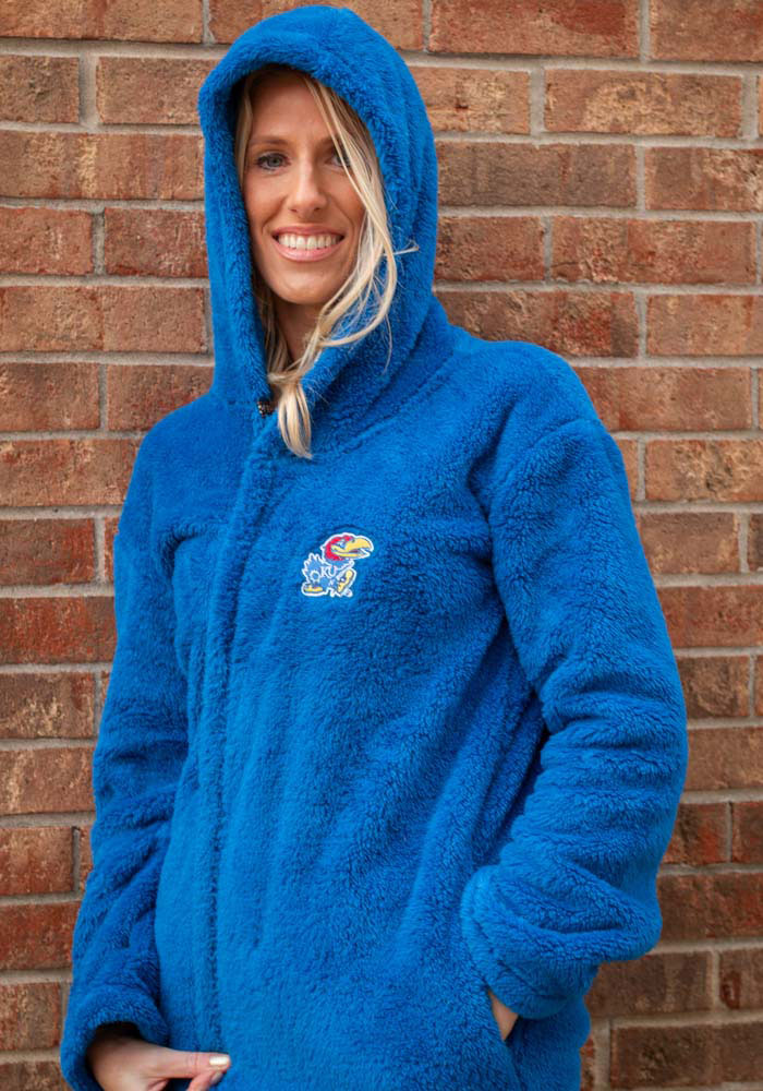 Rah Rah KU Jayhawks Womens Royal Double Plush No Zip Jacket - Image 3