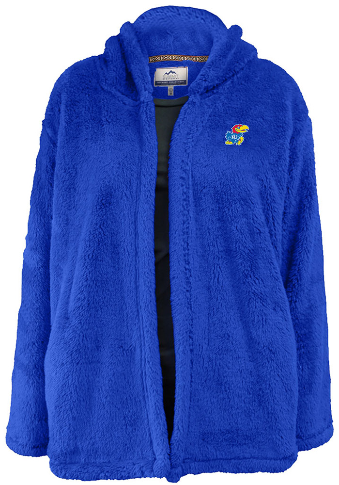 Rah Rah KU Jayhawks Womens Royal Double Plush No Zip Jacket - Image 4