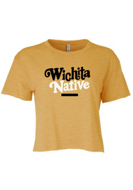 Wichita Women's Gold Native Cropped Short Sleeve T-Shirt