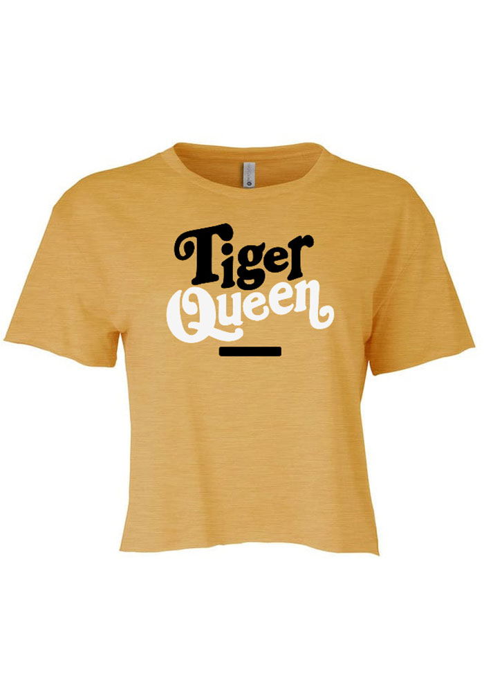 Columbia Women's Gold Tiger Queen Cropped Short Sleeve T-Shirt - Image 1