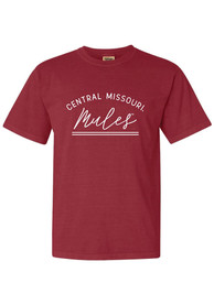 Central Missouri Mules Womens New Basic T-Shirt - Red