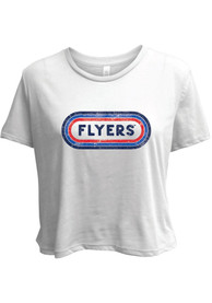 Dayton Flyers Womens Ombre Oval T-Shirt - White