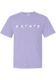 K-State Wildcats Womens Wordmark Dots T-Shirt - Lavender