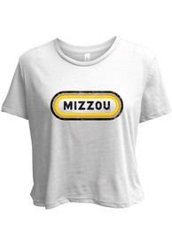 Missouri Tigers Womens Ombre Oval T-Shirt - White
