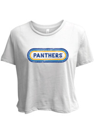 Pitt Panthers Womens Ombre Oval T-Shirt - White