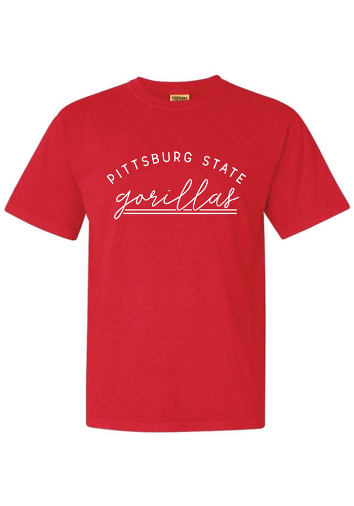 Pitt State Gorillas Womens Red New Basic Short Sleeve T-Shirt - Image 1