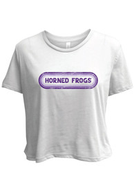 TCU Horned Frogs Womens Ombre Oval T-Shirt - White