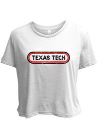 Texas Tech Red Raiders Womens Ombre Oval T-Shirt - White