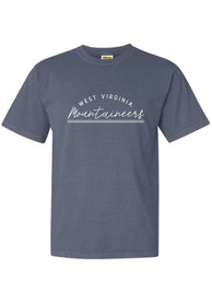 West Virginia Mountaineers Womens New Basic T-Shirt - Navy Blue