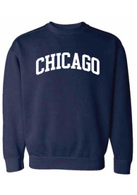Chicago Women's True Navy Wordmark Unisex Crew Sweatshirt