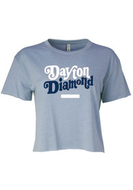 Dayton Women's Stonewash Denim Diamond Cropped Short Sleeve T-Shirt
