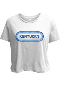 Kentucky Womens Ombre Oval T-Shirt - White