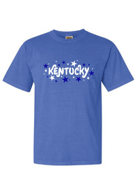 Kentucky Women's Blue Wordmark Stars Short Sleeve T-Shirt