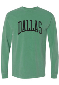 Dallas Kelly Green Arch Comfort Colors Long Sleeve T-Shirt