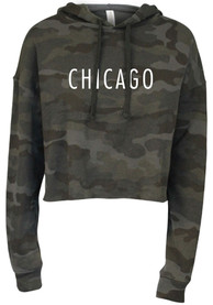 Chicago Womens Wordmark Hooded Sweatshirt - Black