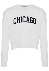 Chicago Womens College Font T-Shirt - White