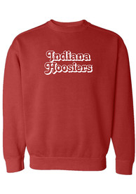 Indiana Hoosiers Womens Retro Shadow Crew Sweatshirt - Crimson