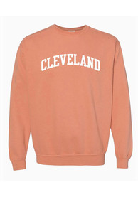 Cleveland Women's Terracotta Wordmark Unisex Long Sleeve Crew Sweatshirt