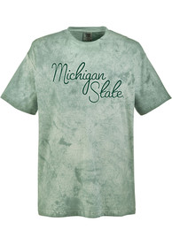 Michigan State Spartans Womens Color Blast T-Shirt - Green