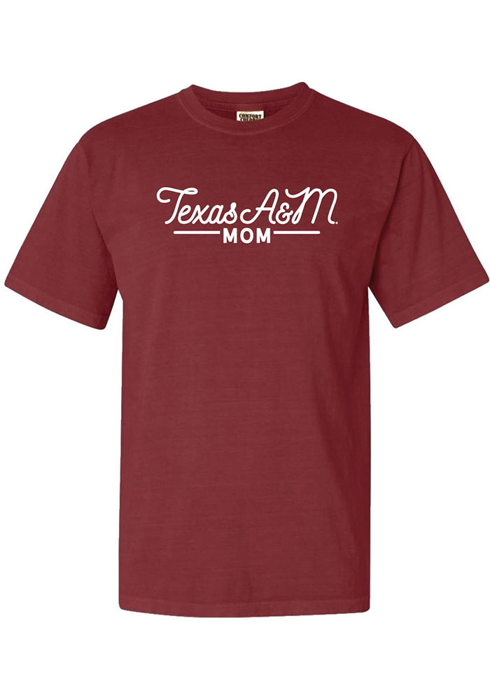 Texas A&M Aggies Womens Brown Mom Short Sleeve T-Shirt - Image 1
