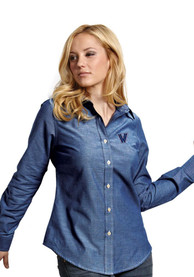 Antigua Villanova Wildcats Womens Blue Sharp Dress Shirt