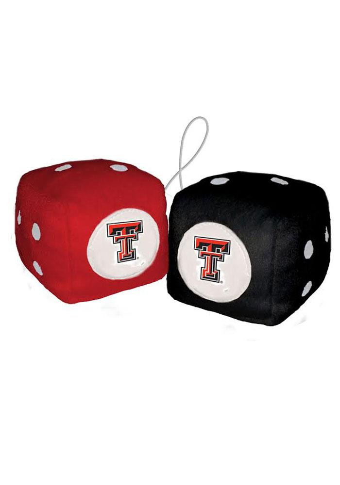 Texas Tech Red Raiders Fuzzy Auto Fuzzy Dice - Image 1