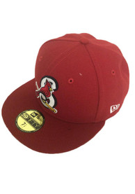 Springfield Cardinals New Era AC 5950 Fitted Hat - Red