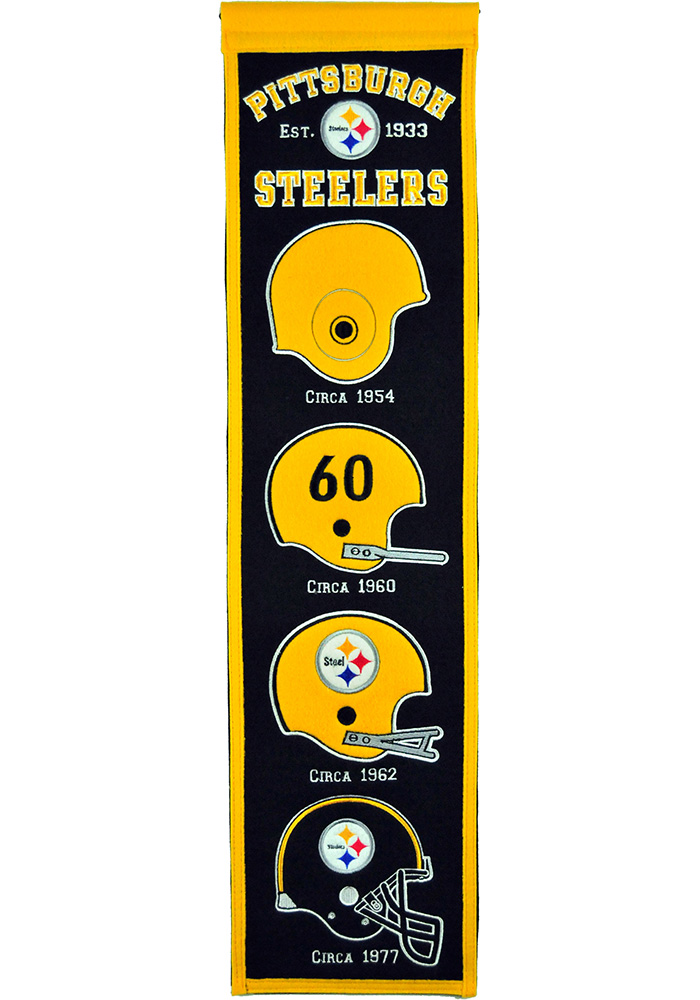Pittsburgh Steelers 8x32 Heritage Banner - Image 1