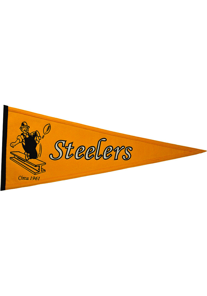 Pittsburgh Steelers 13x32 Throwback Pennant - Image 1