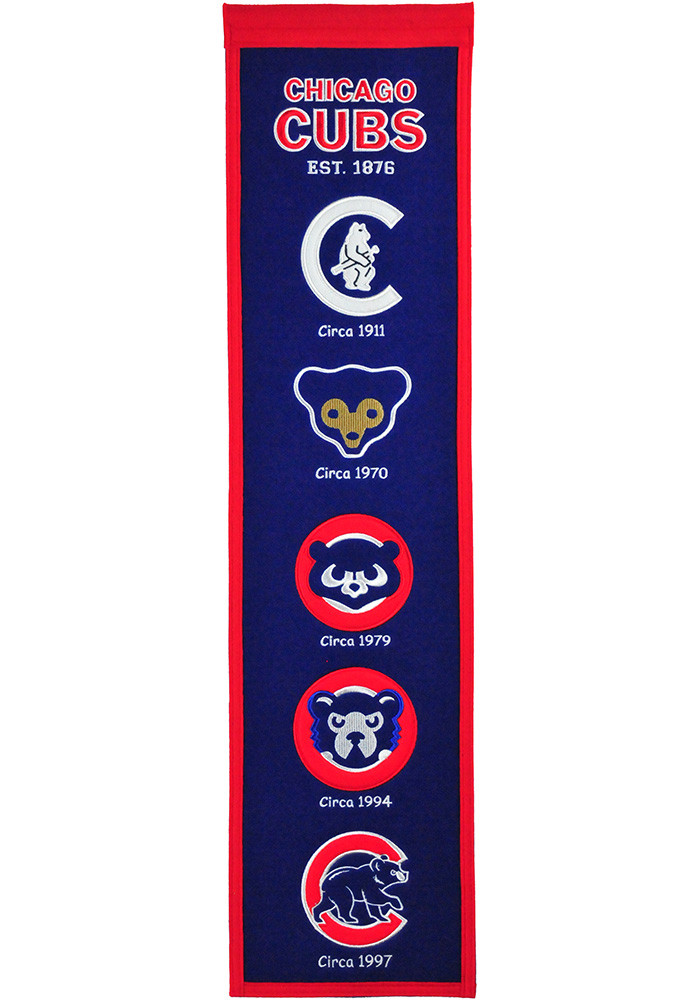 Chicago Cubs 8x32 Heritage Banner - Image 1