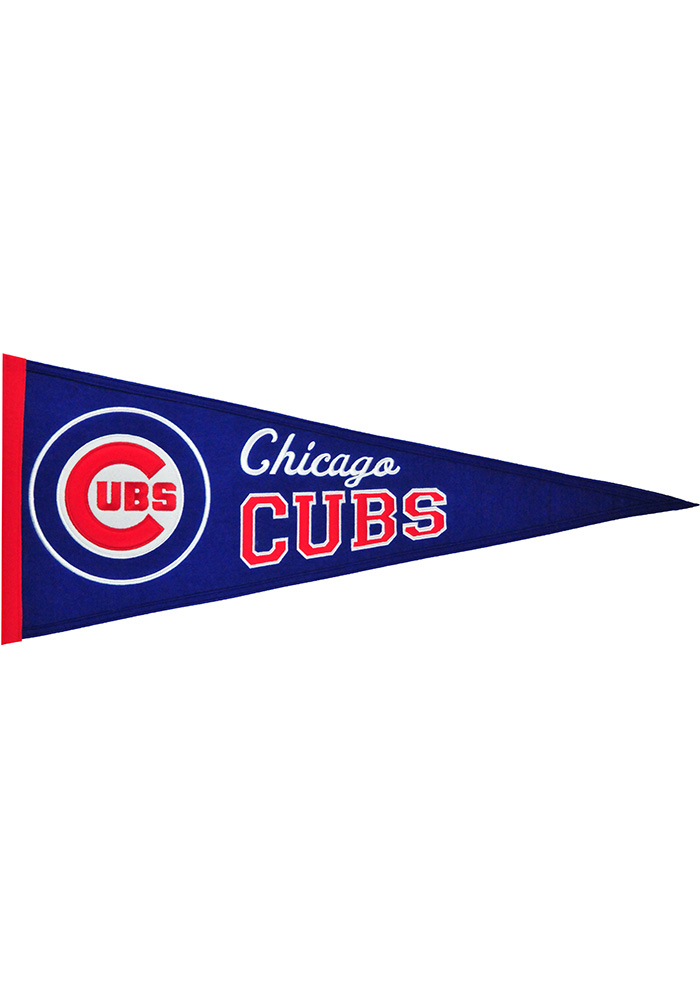 Chicago Cubs 13x32 Tradition Medium Pennant - Image 1