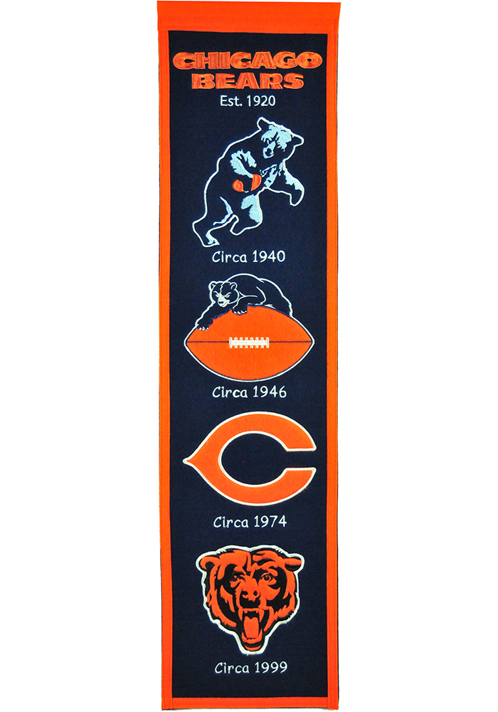Chicago Bears 8x32 Heritage Banner - Image 1