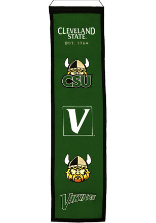 Cleveland State Vikings 8x32 Heritage Banner