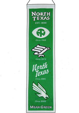 North Texas Mean Green 8x32 Heritage Banner