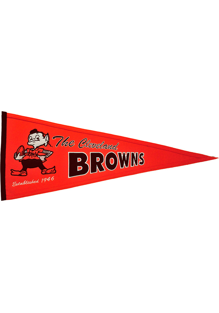 Cleveland Browns 13x32 Throwback Pennant - Image 1