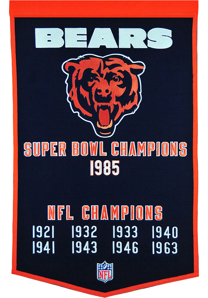 Chicago Bears 24x38 Dynasty Banner - Image 1