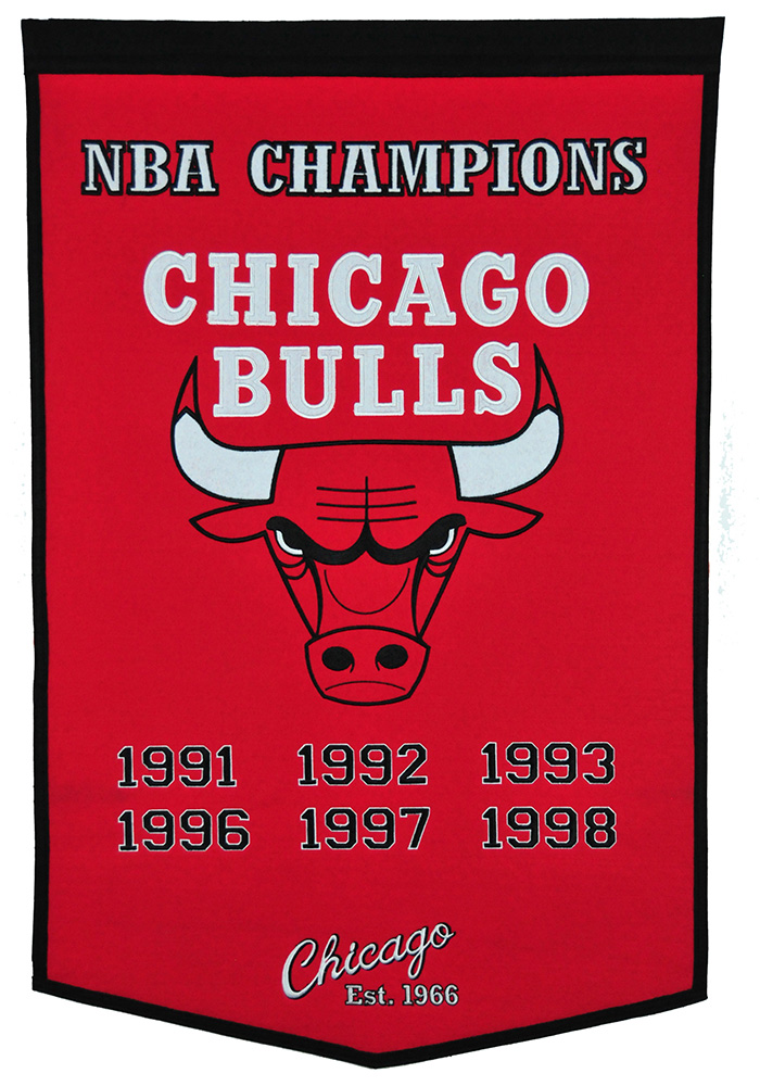 Chicago Bulls 24x38 Dynasty Banner - Image 1