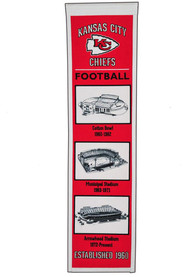 Kansas City Chiefs Stadium Evolution Banner