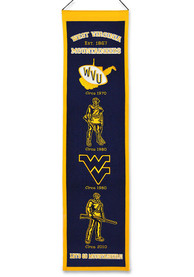 West Virginia Mountaineers 8x32 inch Heritage Banner