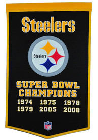 Pittsburgh Steelers Super Bowl Champs Dynasty Banner