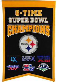 Pittsburgh Steelers 6x14x22 Super Bowl Champs Banner