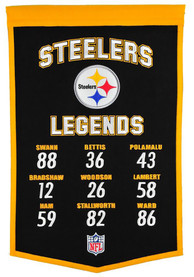 Pittsburgh Steelers 14x22 Legends Banner
