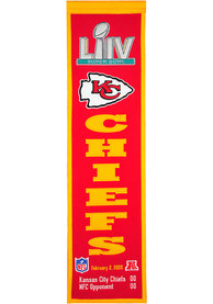 Kansas City Chiefs Super Bowl LIV Champions Commemorative Vertical Banner