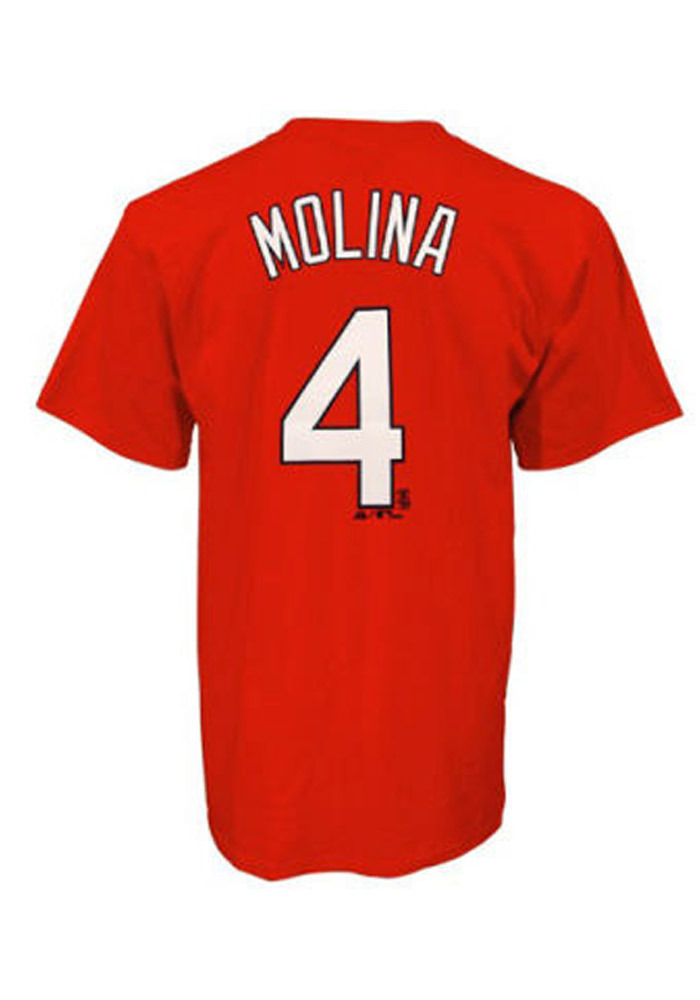 Yadier Molina St Louis Cardinals Youth Red Youth Molina Player Tee - Image 1