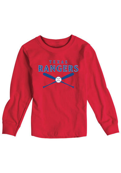 Texas Rangers Toddler Red Crossed Bats Short Sleeve T-Shirt - Image 2